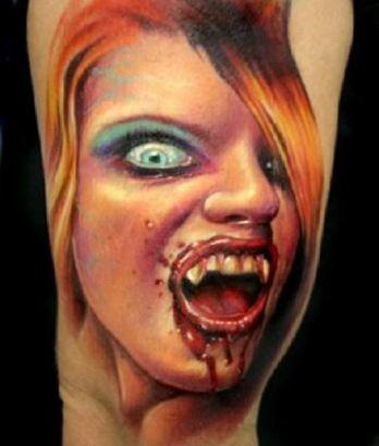<b>Paul Acker</b> Vampire Tattoo - itattooz-Paul-Acker-Vampy-tattoo