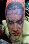 bela lugosi vampire tattoo onb arm