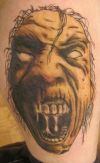 Zombie Face Tattoo Picture