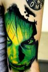 Zombie Tattoo Image on Shoulder