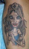 Zombie Tat On Leg