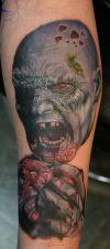 Full Leg Zombie Tattoo