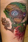 Zombie Tattoo On Leg