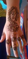 Henna tat design hand and finger