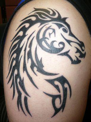 tribal horse picture tattoo tattoo from itattooz. Black Bedroom Furniture Sets. Home Design Ideas