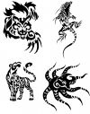 tribal animals image tattoo