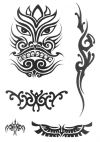 tribal mask pics tattoo