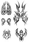 tribal mask tats