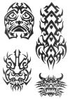 tribal mask picture tattoo