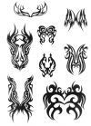 tribal mask tats art