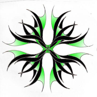 Tribal tattoos color designs