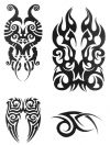 tribal mask tattoo