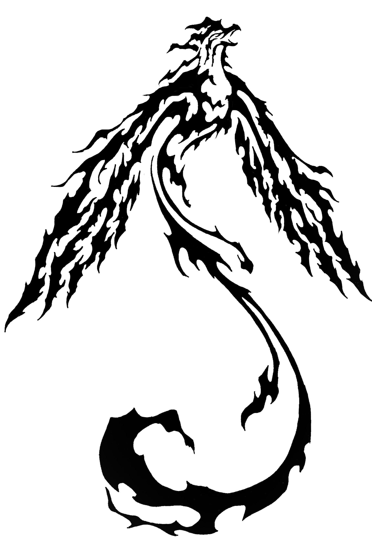 ccaafb4c2 Tribal Phoenix Tattoos Pic