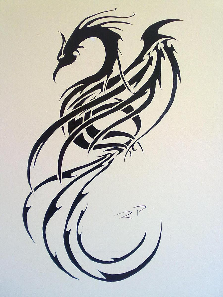 Tribal Phoenix Tattoo Free Pics