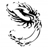 tribal phoenix image tattoo