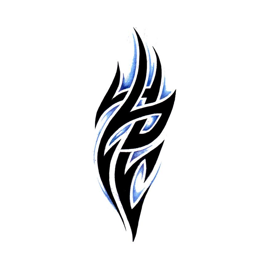 Tribal Blue Symbol Tattoo