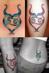 taurus symbol tattoos design