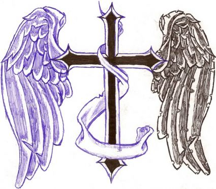 Angel Wings Cross Tattoos Design Image Tattoo From Itattooz
