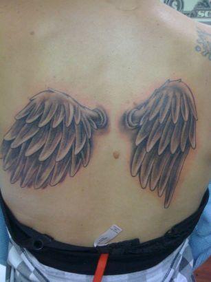 Angel Wings Girls Back Tattoos Design Tattoo From Itattooz