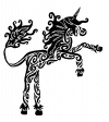 maori unicorn tattoo