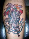 rebel horse rider tattoo