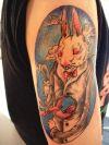 rabbit tattoo on arm
