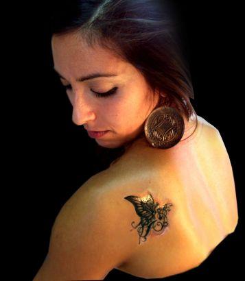Butterfly Shoulder Tattoo Tattoo From Itattooz