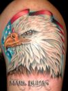 eagle and country flag tattoo
