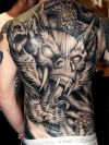 man full body back dragon tattoo design