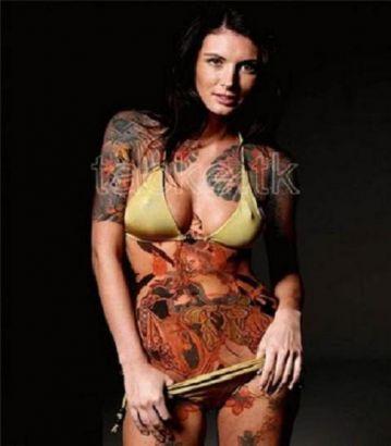 Caliente sexy desnudo yakuza mujeres con espadas