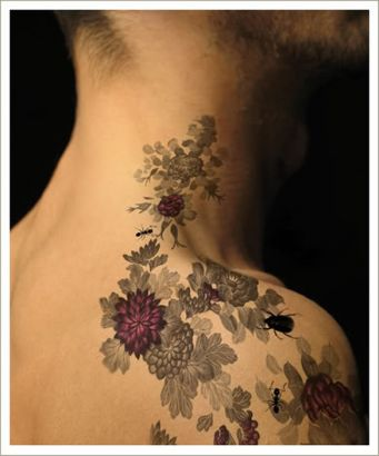Unique Rose Vine Insect Tattoo On Man Shoulder Tattoo From Itattooz