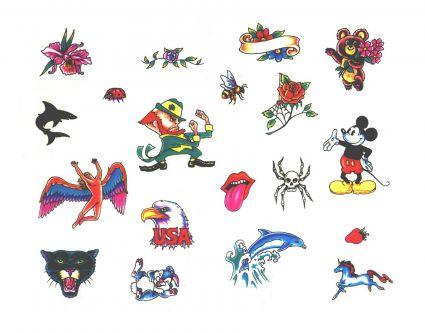 Cartoon Multi Tattoo From Itattooz