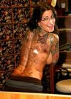 janine lindemulder back tattoo