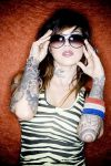 kat von d tattoo on arms