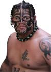 umaga chest and face tattoo