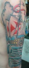 american ship tattoo