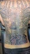 asian back tattoo design