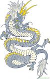 free tat of chinese dragon