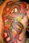 dragon japanese back tat