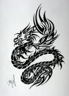 tribal black dragon tats