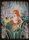 mermaid tattoo print