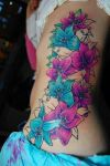 Colored Flowers Tattoos
