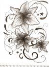 Lily flowers tattoo design