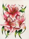 Lily flower free tattoos