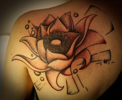 Lotus Back Tattoo