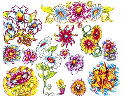 Flower Tattoos Images