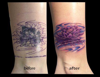 Tattoo Purple Louts Tattoo From Itattooz