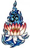 Lotus tattoo design pics with om