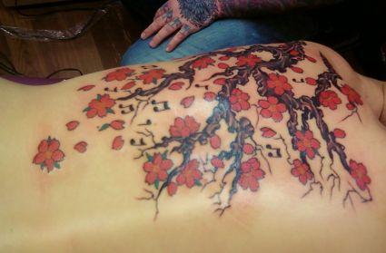 Cherry Blossom Back Tattoo Tattoo From Itattooz