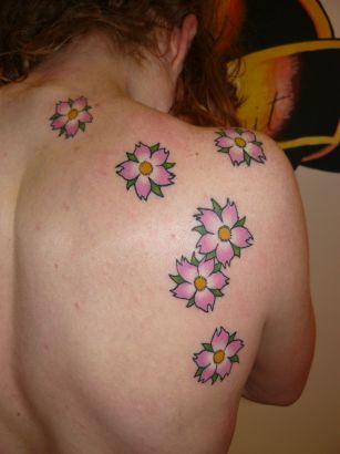 Cherry Blossom Flower Back Tattoo Tattoo From Itattooz